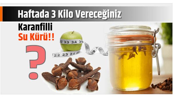 Photo of Haftada 3 Kilo Vereceğiniz Karanfilli Su Kürü!!
