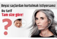 Photo of Beyaz saçlardan kurtulmak istiyorsanız bu tarif tam size göre!