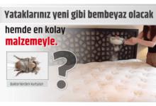 Photo of Yataklarınız yeni gibi bembeyaz olacak hemde en kolay malzemeyle..