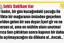 Photo of YALNIZCA 8 DAKİKAN VAR