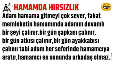Photo of HAMAM'DA HIRSIZLIK!