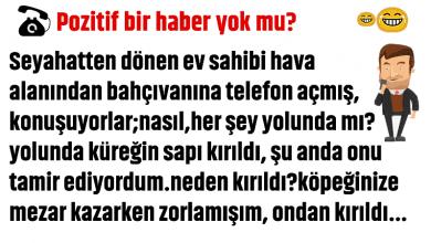 Photo of POZİTİF BİR HABER YOK MU?