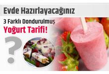 Photo of Evde Hazırlayacağınız 3 Farklı Dondurulmuş Yoğurt Tarifi!