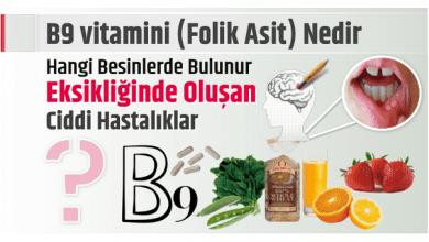 Photo of B9 vitamini (Folik Asit) Nedir, Hangi Besinlerde Bulunur Eksikliğinde Oluşan Ciddi Hastalıklar?