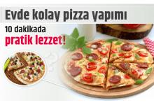 Photo of Evde kolay pizza yapımı, 10 dakikada pratik lezzet!