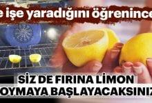 Photo of Ne işe yaradığını öğrenince sizde fırına limon Koymaya başlayacaksınız!