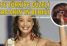 """Photo of İşte Türkiye Güzeli Azra Akın'ın bebeği: """"Gözleri annesinde"""""""
